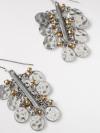 Metal Bar Cluster Earring