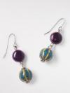 Ceramic Bead Drop Earring