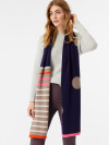 Cashmere Spot And Stripe Scarf