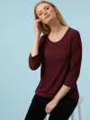 Sally Scoop Neck Jersey Top