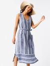 Athel Stripe Midi Dress