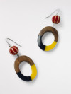 Wood & Resin Hoop Earring