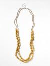 Layered Ceramic Twist Necklace