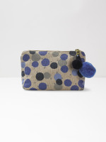 Blue Multi Spot Make Up Bag