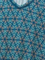 Tile Pattern Jersey Tunic