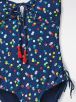 Confetti Spot V Neck Swimsuit
