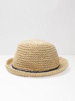 Straw Pom Pom Hat