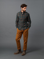 Grommet Flannel Check Shirt