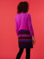 Ada Stripe Velvet Skirt