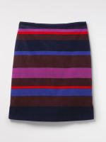 Ada Stripe Velvet Pencil Skirt