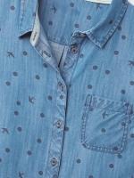 Denim Spot Print Shirt
