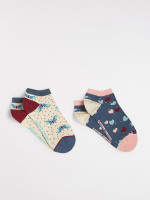 Flutterby Trainer Sock 2 Pack