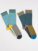 Summer Stripe 2 Pack Sock