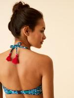 Floral Stripe Bandeau Top