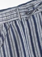 Stripe Anna Linen Short