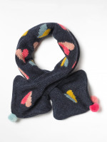 Kids Paper Hearts Tippet Scarf
