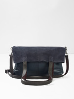 Issy Leather Fold Down Tote