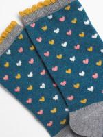 Ditsy Heart Sock