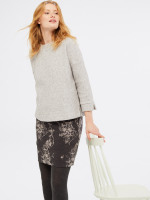 Ash Jacquard Skirt