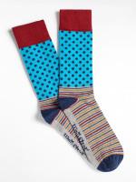 Spotty Patchwork Sock