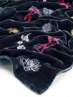 Embroidered Velvet Scarf
