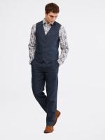Northcote Puppytooth Linen Waistcoat