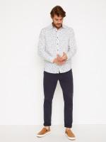 Barrow Linen Mix Print Shirt