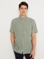 Lanyard Linen Check Shirt