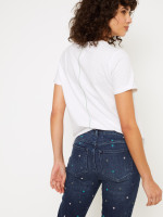 Straight Embroidered Crop