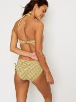 Summer Leaf Drawstring Bikini Top