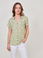 Linen Collared Jersey Shirt