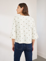 Spot Embroidered Tee