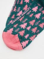Glitter Tree Sock