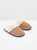 Suede & Shearling Slipper Mule