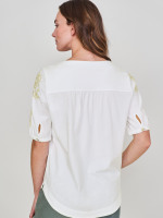Layla Embroidered Jersey Top