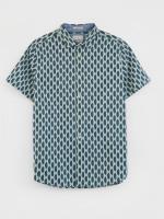 Linear Leaf Print Shirt