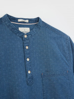 Indigo Grandad Shirt