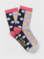 Farah Spot Patchwork Sock