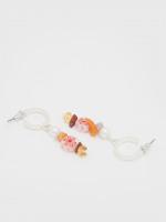 Layered Flower Bead Hoops