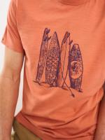 Surfboard Organic Graphic Tee