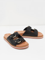Double Strap Leather Footbed