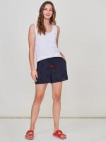 Crinkle Embroidered Short