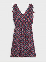 Ikat Drawstring Jersey Dress