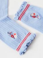 Ethel Embroidered Floral Sock