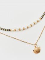 Layered Pearl & Shell Pendant