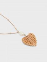 Wicker Heart Pendant