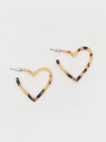 Tortoise Shell Heart Earrings