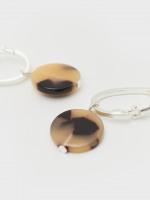 Tortoise Shell Disc Earrings
