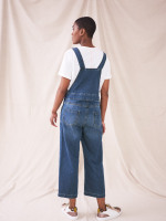 Wide Leg Cropped Dungaree