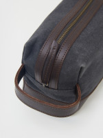 Organic Cotton Leather Washbag